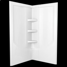 White 38'' Direct-to-Stud Corner Shower Wall Set