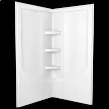 White 38'' Direct-to-Stud Corner Shower Wall Set