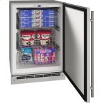 "U-LineOutdoor Collection 24"" Convertible Freezer With Stainless Solid Finish and Field Reversible Door Swing (115 Volts / 60 Hz)"