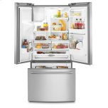 Maytag 33- Inch Wide French Door Refrigerator with Beverage Chiller Compartment - 22 Cu. Ft.