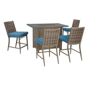 Ashley Furniture Partanna - Blue/beige 2 Piece Patio Set