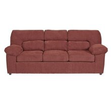 Sofa - Red Chenille Finish