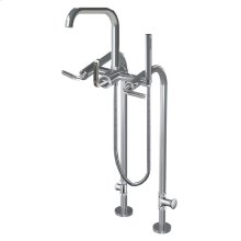 7053cz - Floor Mount Tub Filler With Hand Shower in Polished Chrome
