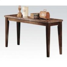 Black Marble Top Sofa Table @n