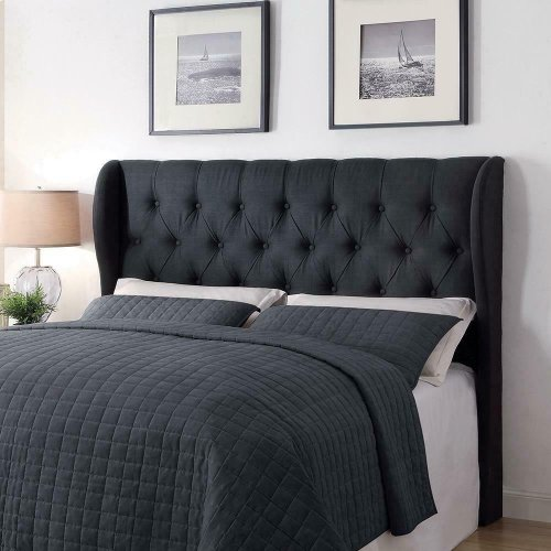 Murietta Traditional Charcoal Upholstered King Headboard