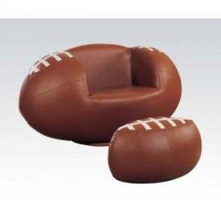 2pc Pk Football Chair & Ottoman