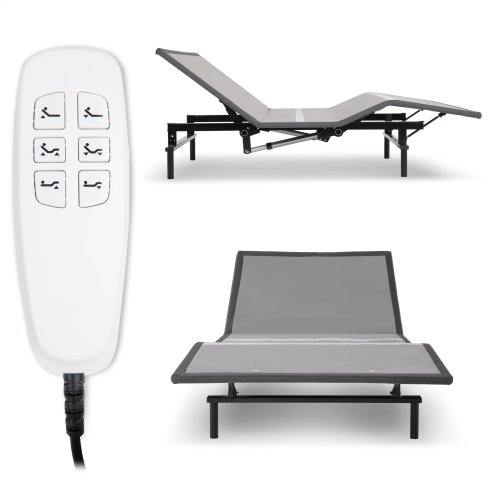 Pro-Motion 2.0 Low-Profile Adjustable Bed Base with Simultaneous Movement and MicroHook Technology, Charcoal Gray Finish, Full