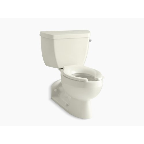 Biscuit Two-piece Elongated 1.0 Gpm Toilet With Pressure Lite Flushing Technology and Right-hand Trip Lever