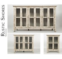 "Rustic Shores Scrimshaw 70"" Accent Cabinet Product Image"