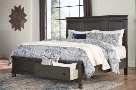 Devensted - Dark Gray 3 Piece Bed Set (Cal King)