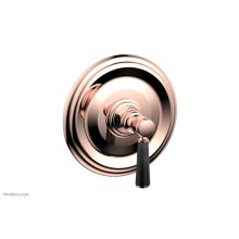 HEX TRADITIONAL Shower Trim with Marble Lever Handle 4-156 - Polished Copper