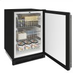 """U-LINE1000 Series 24"""" Convertible Freezer With Stainless Solid Finish and Field Reversible Door Swing (115 Volts / 60 Hz)"""