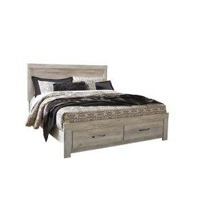 Ashley Furniture Bellaby - Whitewash 4 Piece Bed Set (King)