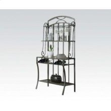 Wh Faux Marble Baker's Rack