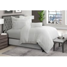 6pc Queen Duvet Set White