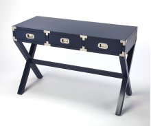 The perfect place to pen notes and tackle weekly to-dos, this writing desk turns any empty space into a convenient workspace. Its campaign-stylerubberwood construction brings clean, modern appeal to your decor, while a three drawers, with soft metal glide