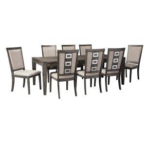 Ashley Furniture Chadoni - Gray 9 Piece Dining Room Set