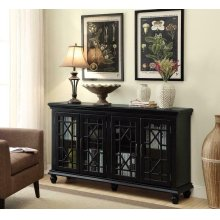 Traditional Black Accent Cabinet