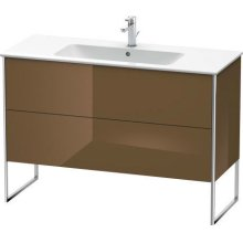 Vanity Unit Floorstanding, Olive Brown High Gloss Lacquer