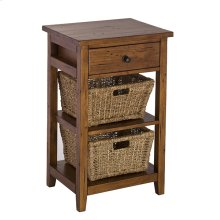 Tuscan Retreat® 2 Basket Stand - Antique Pine