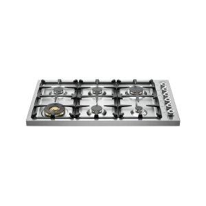 Bertazzoni36 Drop-in Cooktop 6-burner Stainless