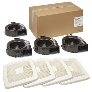 BroanLoProfile DC Series Bathroom Exhaust Fan Finish Pack with selectable 50 or 100 CFM, ENERGY STAR® certified