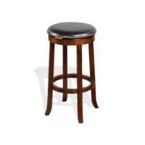 "30""H Cappuccino Swivel Stool w/ Cushion Seat Product Image"