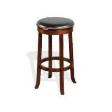 """30""""H Cappuccino Swivel Stool w/ Cushion Seat"""