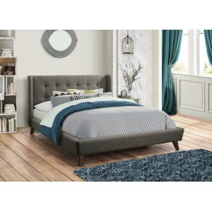 CoasterCarrington Grey Upholstered Queen Bed