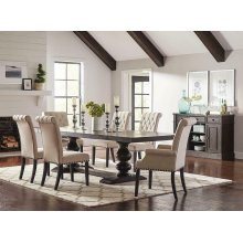 Phelps Traditional Antique Noir Dining Table