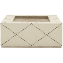 Santa Barbara Square Cocktail Ottoman in Sandstone (385)