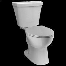 White Round Front Dual-Flush Toilet