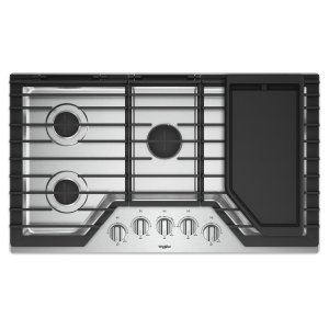 36-inch Gas Cooktop with Griddle - HERITAGE STAINLESS STEEL