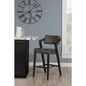 Hillsdale FurnitureSnyder Non-swivel Bar Height Stool - Blackwash
