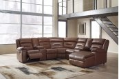 Coahoma - Chestnut 7 Piece Sectional