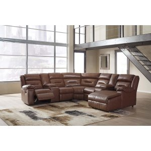Ashley Furniture Coahoma - Chestnut 7 Piece Sectional