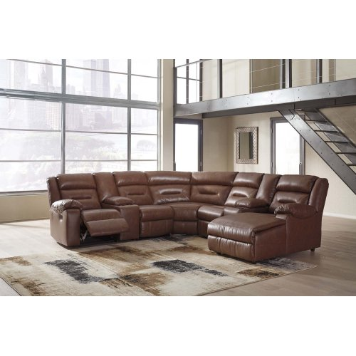 Coahoma - Chestnut 4 Piece Sectional