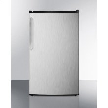 Energy Star Qualified Auto Defrost Refrigerator-freezer, With A Counter Height Black Cabinet, Stainless Steel Door, and Towel Bar Handle