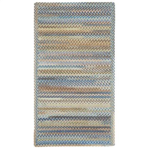 American Legacy Natural Blue Braided Rugs (Custom)
