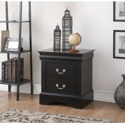 BLACK L.P NIGHTSTAND Product Image