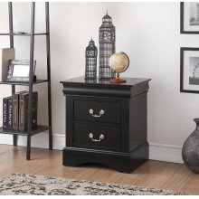 BLACK L.P NIGHTSTAND