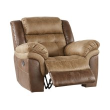 Sheffield Two-Tone Brown Leather Reclining Glider Chair