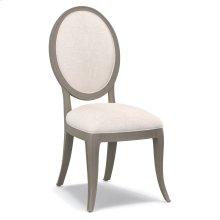 Living Room Darling Upholstered Oval Back Side Chair