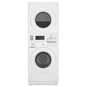 WhirlpoolCommercial Gas Stack Washer/Dryer, Coin Equipped White
