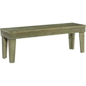 JOHN THOMAS FURNITURE52 IN ASPEN BENCH IN GRAY WASH