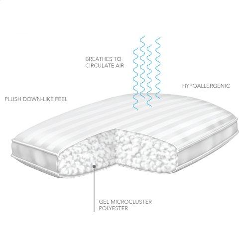 Sleep Plush + GelSoft Plush Soft Density Fiber Pillow, King
