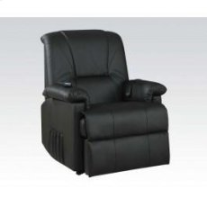 Kit-black Pu Recliner W/functs Product Image