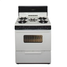 30 in. Freestanding Gas Range with 5th Burner and Griddle Package in Biscuit