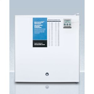 SummitCompact Commercially Listed All-freezer, Manual Defrost With A Lock and Nist Calibrated Thermometer