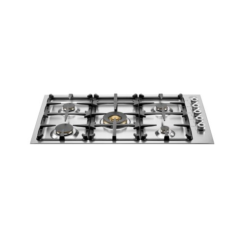 36 Drop-in low edge cooktop 5-burner Stainless Steel